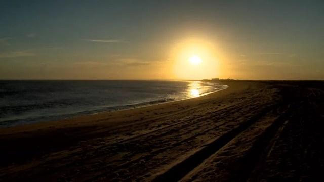 Pôr do sol em Regência, no Norte do Espírito Santo — Foto: Arquivo/ TV Gazeta