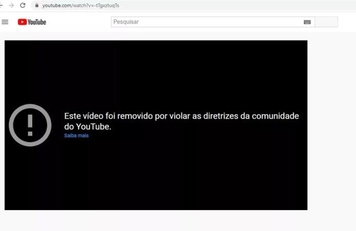 Vídeo da live de Bolsonaro de 14 de janeiro de 2021 foi removido pelo YouTube na última segunda (19) — Foto: Reprodução