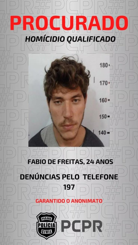 Suspeito por morte de Amanda, em Cascavel, é considerado foragido — Foto: Polícia Civil/Divulgação