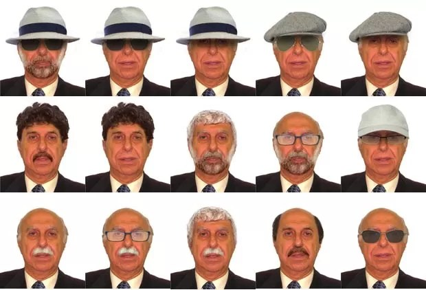 PF usou projeção de difarces na busca por Roger Abdelmassih (Foto: Divulgação/Polícia Federal)