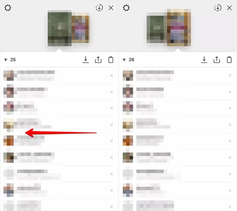 Visualizando lista de amigos que viram a sua história (Foto: Reprodução/Helito Bijora)  — Foto: Reprodução/Helito Bijora