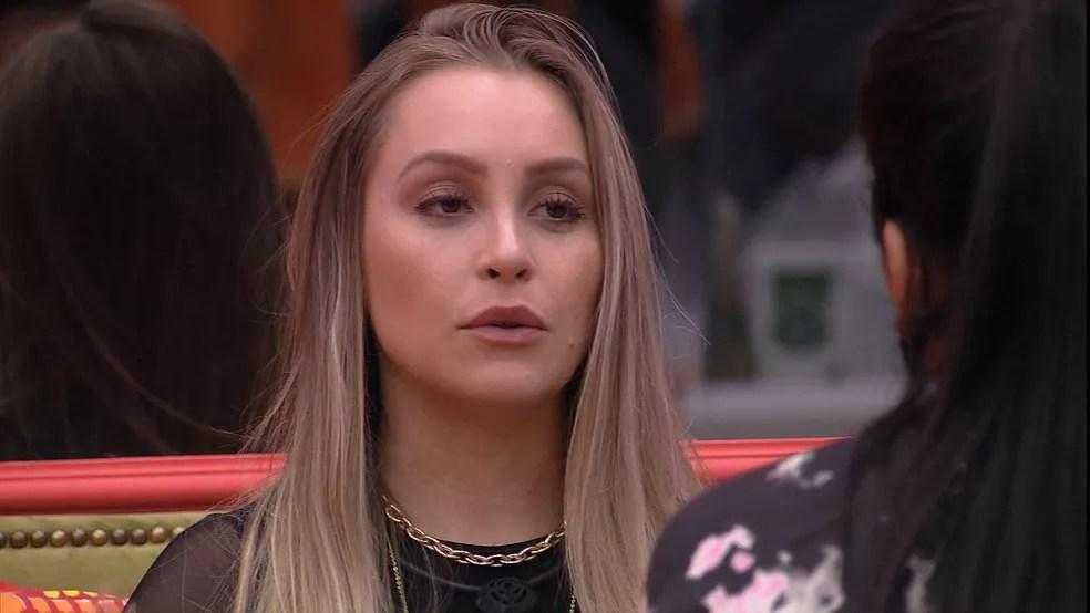 Carla Diaz desabafa sobre sister no BBB21: 'Me ignorou, me tratou como lixo' — Foto: Globo