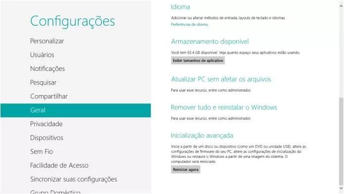 Para fazer a formatação completa, é necessário remover todos os arquivos do notebook (Foto: Reprodução/Pedro Zambarda)