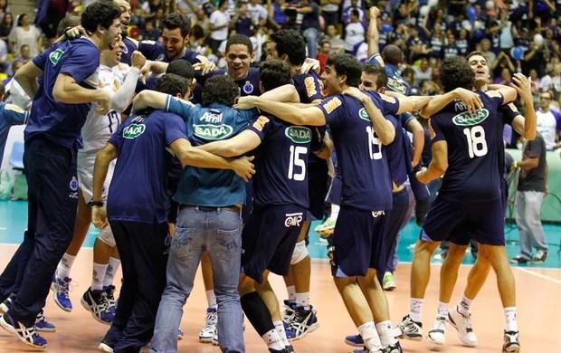vôlei Cruzeiro (Foto: Gustavo Tilio / Globoesporte.com)