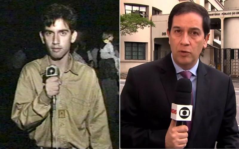 Wallace Lara foi repórter na EPTV Sul de Minas em 1993 e está na TV Globo São Paulo. — Foto: Arte/G1