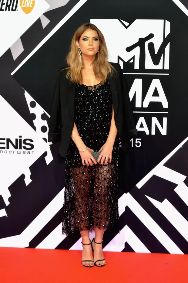 Ashley Benson no MTV Europe Music Awards (Foto: Getty Images)