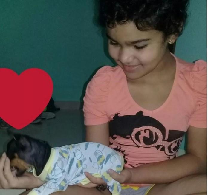 Cachorro atende pelo nome de Jukinha (Foto: Arquivo da família)