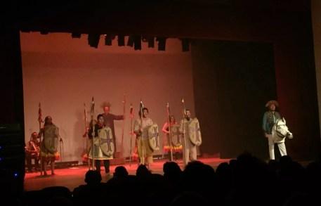 """Espetáculo teatral """"Ópera do Pandeiro"""" foi uma das homenagens ao centenário de Jackson do Pandeiro durante a programação do Centro Cultura do BNB em Sousa, PB — Foto: Murilo Custódio/CCBNB"""