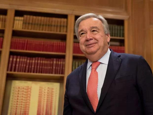Antonio Guterres indicado a substituir Ban Ki-moon como secretário da ONU (Foto: Petros Giannakouris/AP Photo)