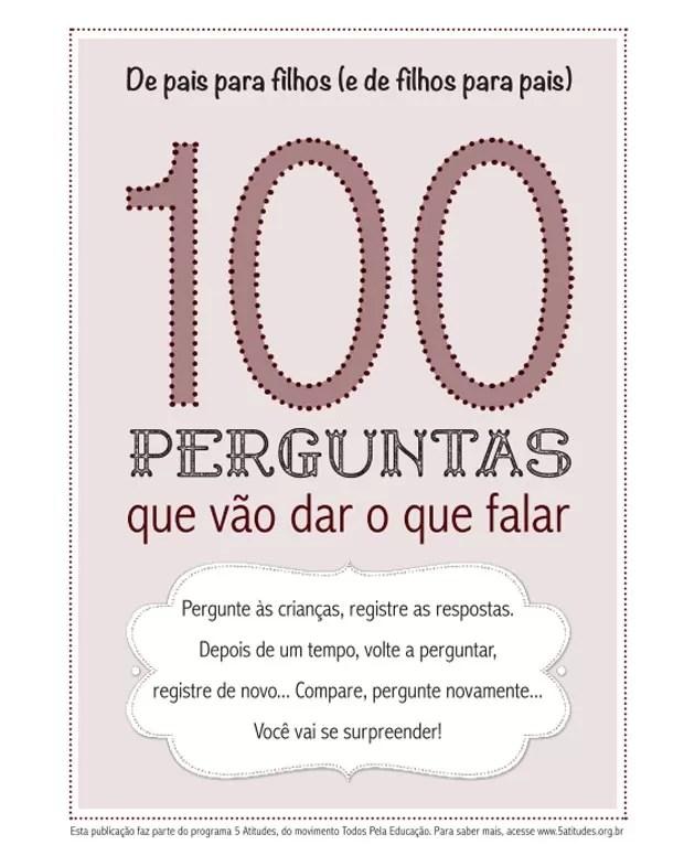 Capa do livro 100 perguntas que vão dar o que falar (Foto: Reprodução/Todos Pela Educação)