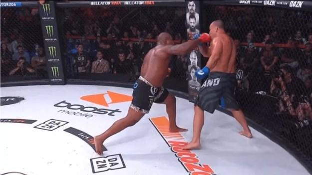 Rampage Jackson nocauteou Wanderlei Silva no co-evento principal do Bellator 206 — Foto: Reprodução