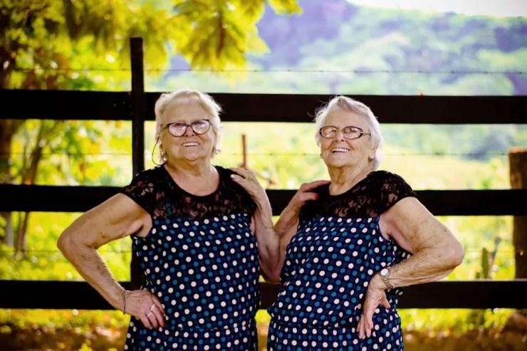 Gêmeas esbanjam alegria em ensaio fotográfico (Foto: Jaqueline Martins | Arquivo Pessoal)