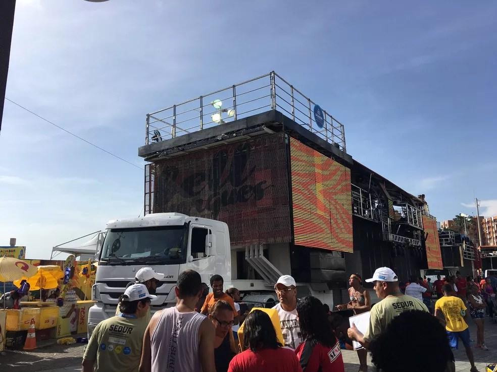 Logo após o bloco Blow Out, o cantor Bell Marques animará o circuito (Foto: Henrique Mendes/G1 Bahia)