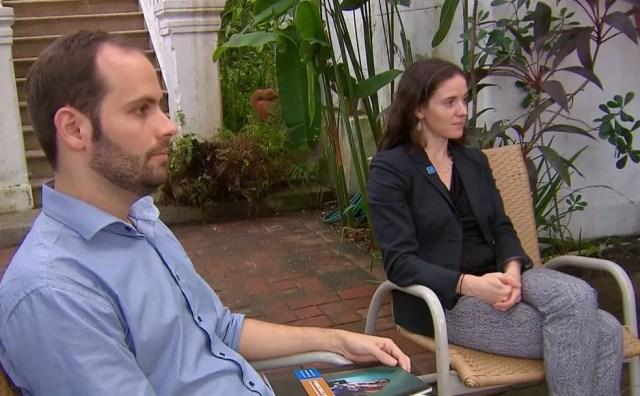 João Guilherme Bieber e Amanda Klasing são autores da pesquisa internacional (Foto: Reprodução/TV Globo)
