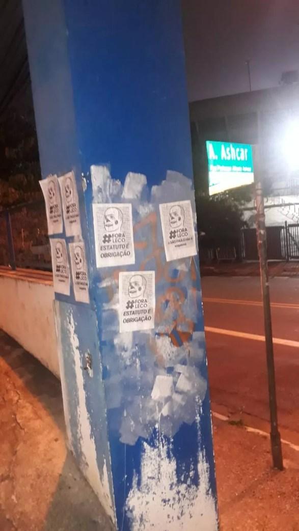 Protesto contra Leco, presidente do São Paulo — Foto: Divulgação