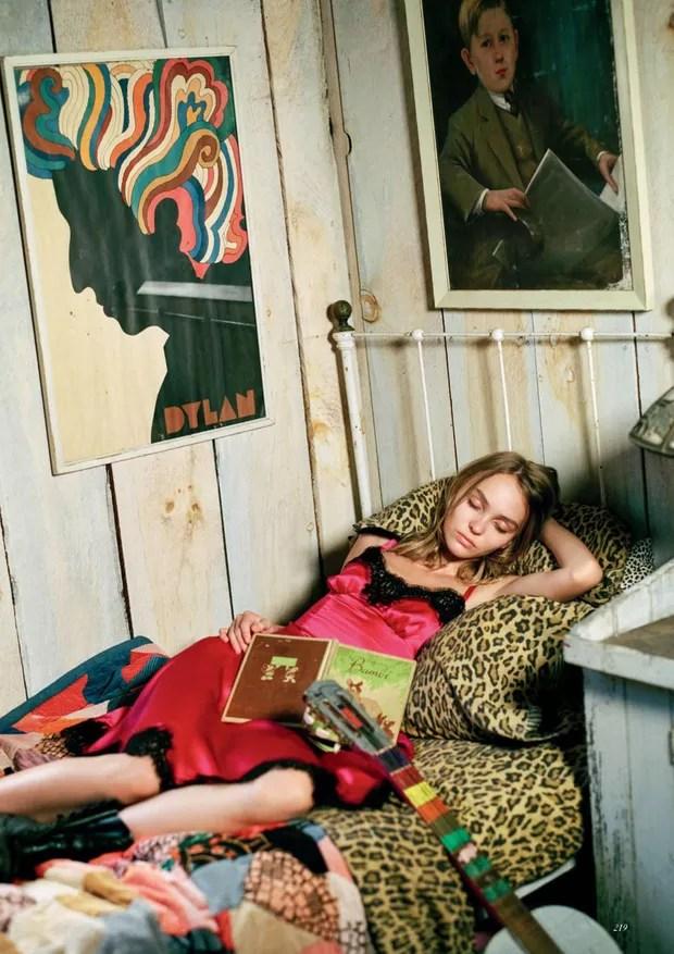 Lily-Rose Depp (Foto: Reprodução/Vogue UK)