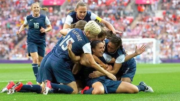 Carli Lloyd, EUA x Japão, Futebol Masculino (Foto: Agência Reuters)