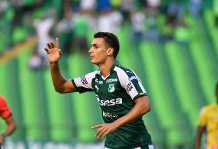 Juan Dinenno está emprestado ao Deportivo Cali, que quer comprá-lo e pode negociá-lo com o São Paulo — Foto: Reprodução/Deportivo Cali