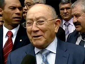 O pastor José Wellington, que foi reeleito presidente da Assembleia de Deus e vai chefiar a maior denominação evangélica do país pelos próximos quatro anos (Foto: Reprodução/TV Globo)