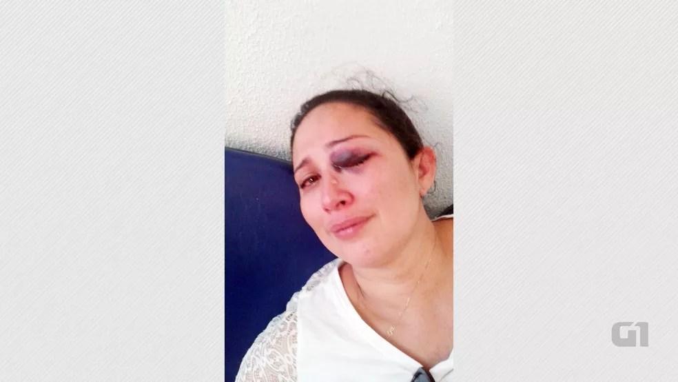 Flávia Florêncio registrou agressão na delegacia de Piancó, no Sertão da Paraíba (Foto: Flávia Batista Florêncio/Arquivo Pessoal)
