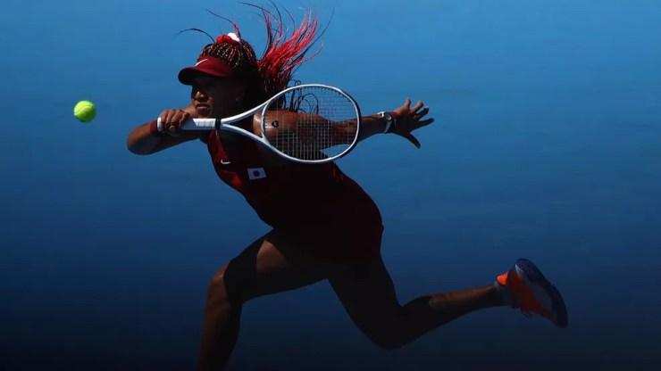 Naomi Osaka estreia com vitória em Tóquio — Foto: Reuters
