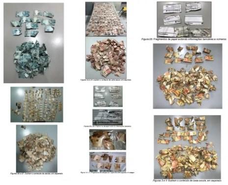 Perícia alagoana analisou mais de mil fragmentos de cédulas apreendidas no interior do estado no ano passado (Foto: IC-AL/Divulgação)