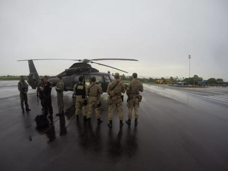 Ação contou com auxílio de equipes da PF, FAB, Exército e Ibama. — Foto: Polícia Federal/Divulgação