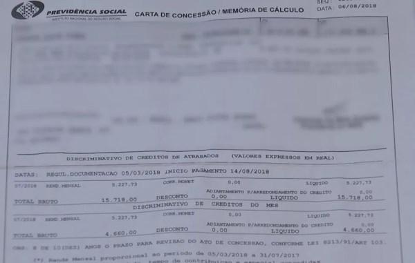Quadrilha tinha acesso a diversos documentos da Previdência, como o conhecido como Memória de Cálculo (Foto: TV TEM/Reprodução)