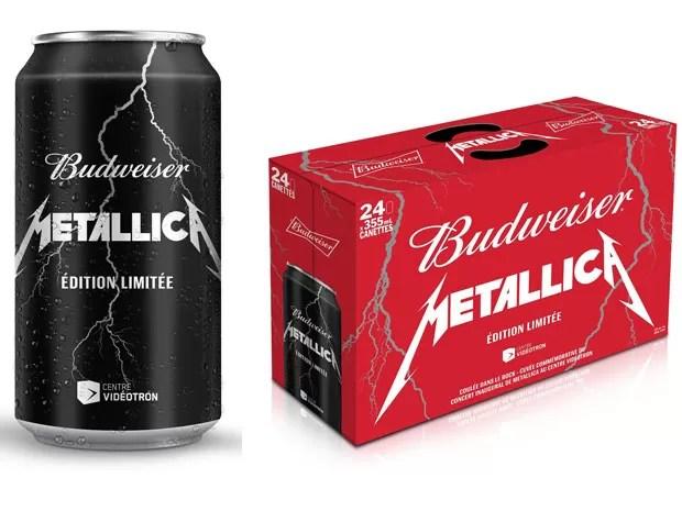 Budweiser lança cerveja especial da banda Metallica no Canadá (Foto: Divulgação)