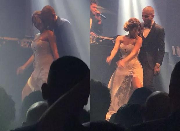 Lexa e Guimê dançam na festa de casamento (Foto: Reprodução)