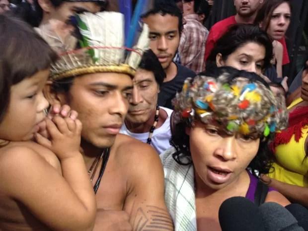 Márcia Guajajara disse que hostel não tem espaço para a filha (Foto: João Bandeira de Mello)