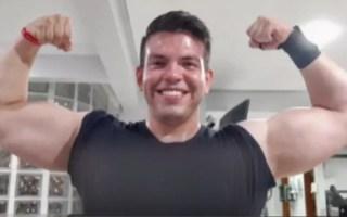 Personal trainer Murilo Morais foi preso suspeito de espancar a namorada quando iam para igreja em Goiânia — Foto: Reprodução/TV Anhanguera
