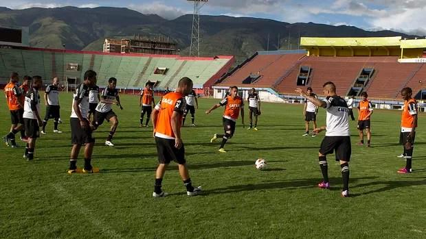 Corinthians na Bolívia (Foto: Daniel Augusto Jr / Agência Corinthians)