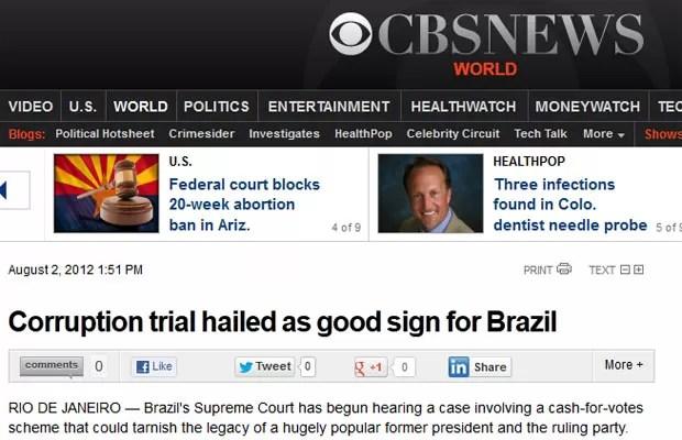 Rede CBS aponta que o juhamento é um sinal positivo para o Brasil (Foto: Reprodução)