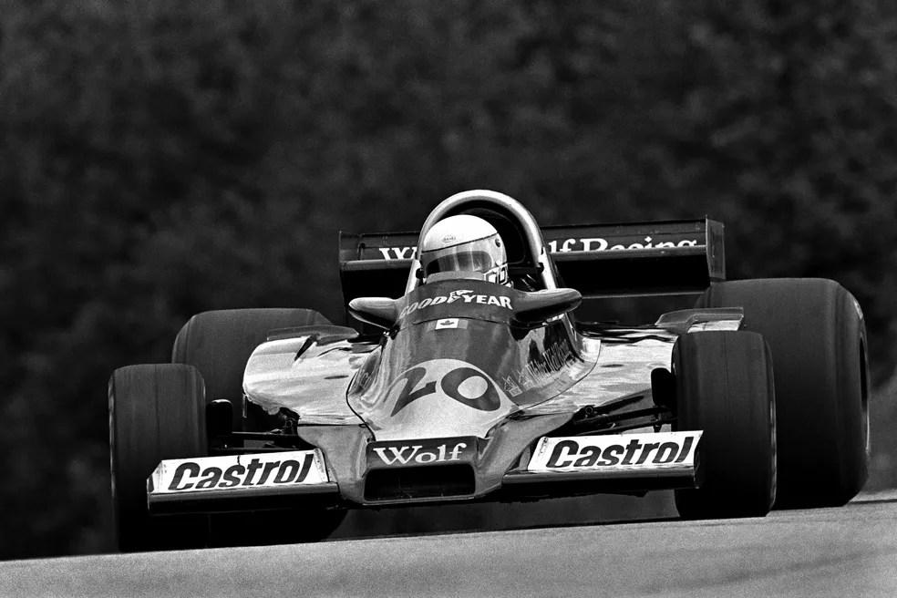 Jody Scheckter herdou a liderança no finalzinho do GP do Canadá de 1977 — Foto: Getty Images