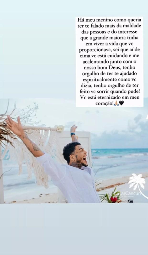 Deolane Bezerra posta no primeiro mês da morte de MC Kevin (Foto: Reprodução/Instagram)