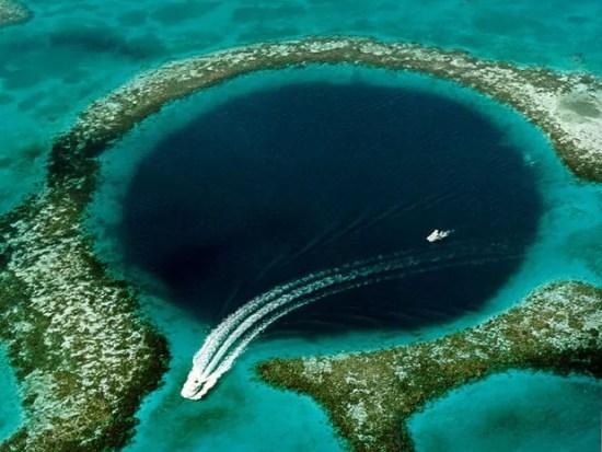 Grande Buraco Azul em Belize (Foto: U.S. Geological Survey)