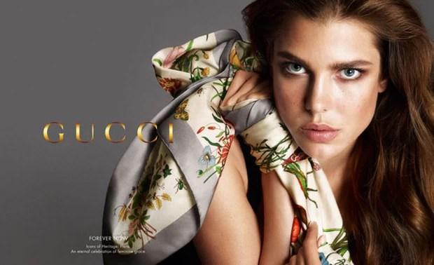Charlotte Casiraghi em nova campanha da gucci (Foto: divulgação/gucci)