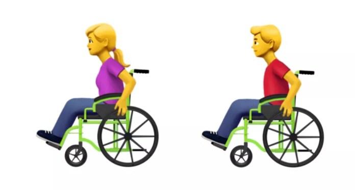 Emojis representam pessoa em cadeira de rodas manual (Foto: Divulgação)