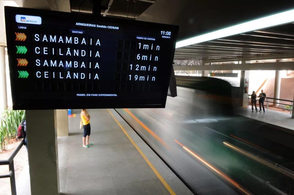 Estação Arniqueiras do metrô do Distrito Federal — Foto: Gabriel Jabur/Agência Brasília