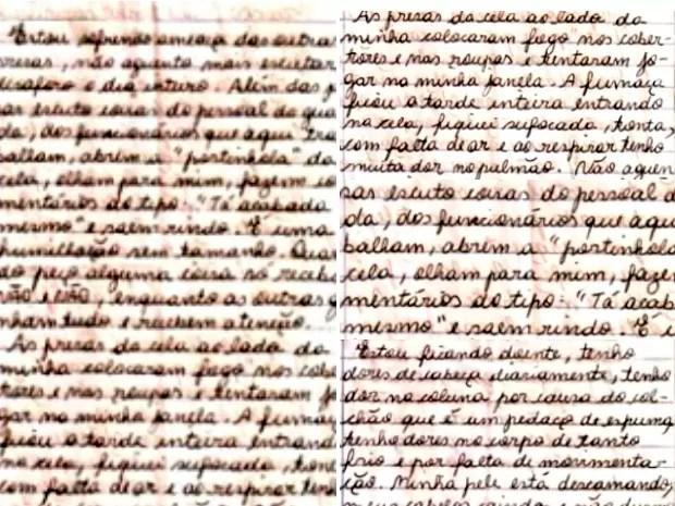 Carta de Gracieli Ugulini enviada à Justiça (Foto: Reprodução/RBS TV)