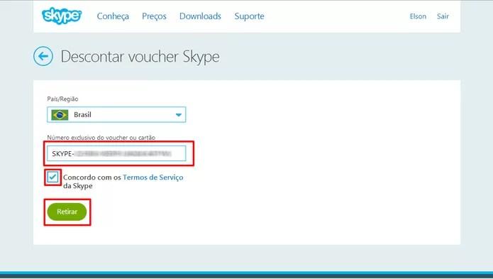 Skype pedirá seu código promocional antes de fornecer créditos para ligações gratuitas pela Internet (Foto: Reprodução/Elson de Souza)