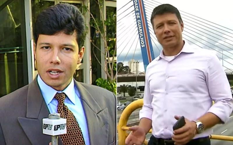 César Menezes passou pela EPTV Campinas em 1998 e está na TV Globo São Paulo. — Foto: Arte/G1