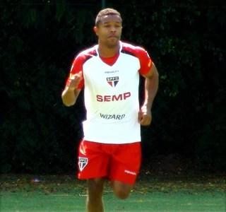 Treino São Paulo Pabon (Foto: Cassio Barco)