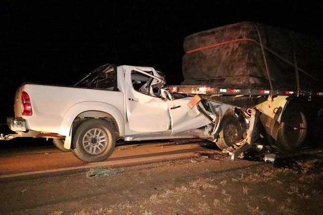 Acidente na BR-163 em Nova Mutum matou casal nesse domingo (Foto: Djeferson Kronbauer/Power Mix)