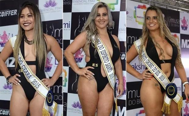 Candidatas Musa do Brasil: Kelly Kitaoka, Ceará | Kelly Moura, Espírito Santo | Rafaella Gonçalves, Mato Grosso do Sul (Foto: Divulgação)