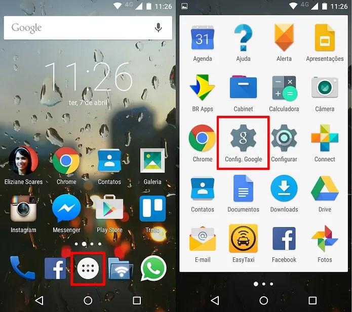 Abrindo o aplicativo Configuração. Google (Foto: Felipe Alencar/TechTudo)