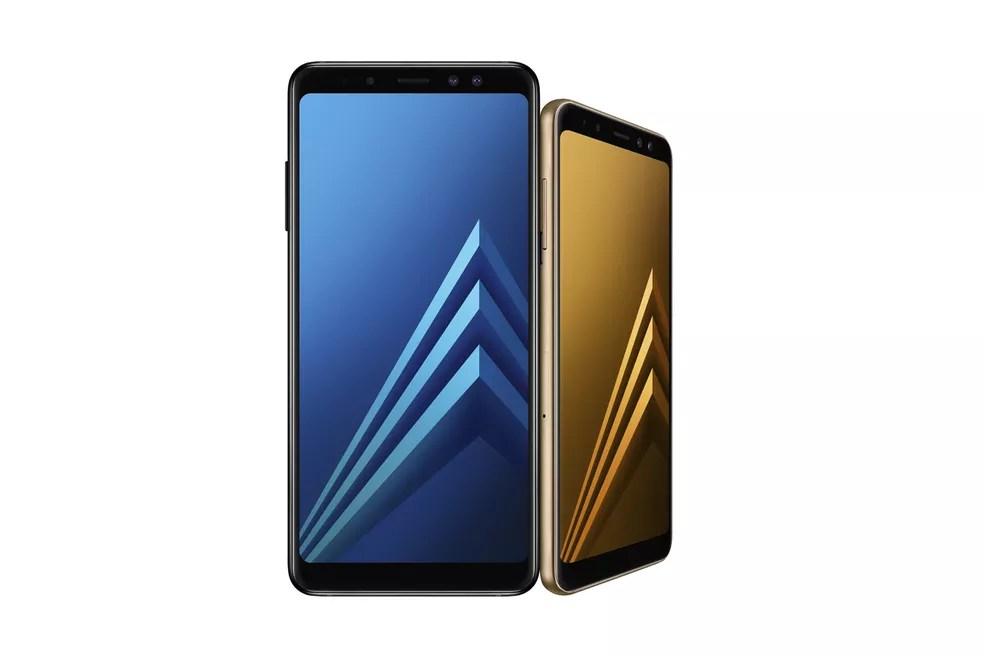 Galaxy A8 Plus (2018) tem tela de 6 polegadas contra 5,6 polegadas do A8 (2018) (Foto: Divulgação/Samsung )