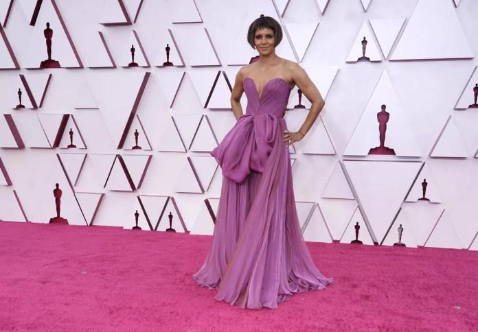 Halle Berry no Oscar 2021 — Foto: AP Photo/Chris Pizzello