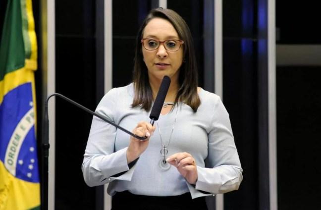 Deputada Renata Abreu, autora da proposta vetada pelo presidente Jair Bolsonaro — Foto: Luis Macedo / Câmara dos Deputados
